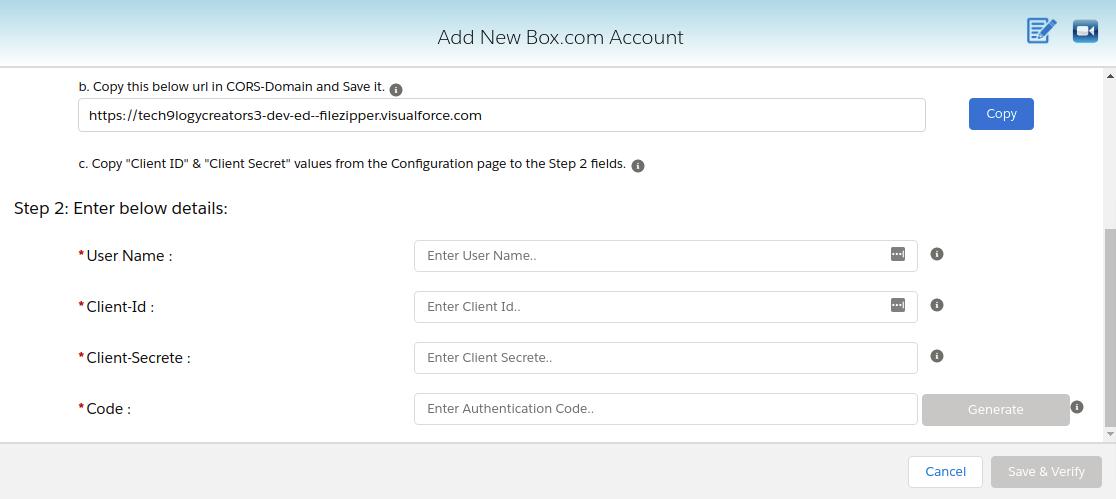 Enter your Box.com username