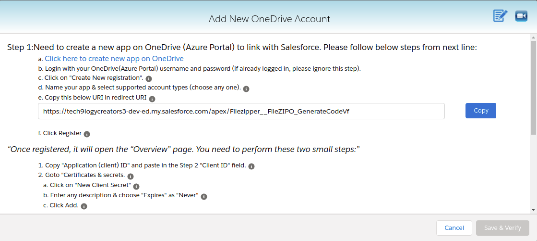 add new one drive account
