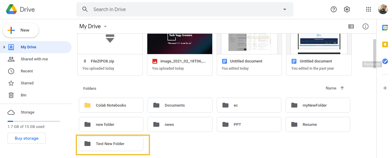 go to your Google-Drive account