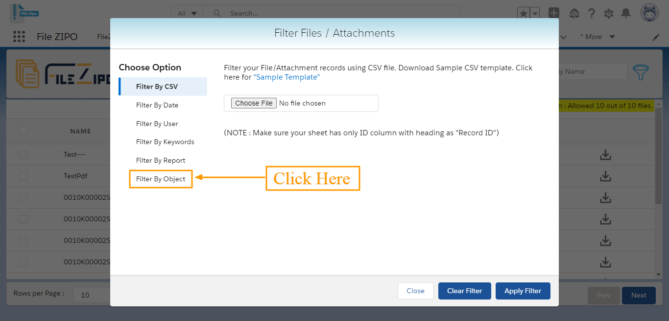 """use """"Advance filter"""" by clicking on Filter Icon"""