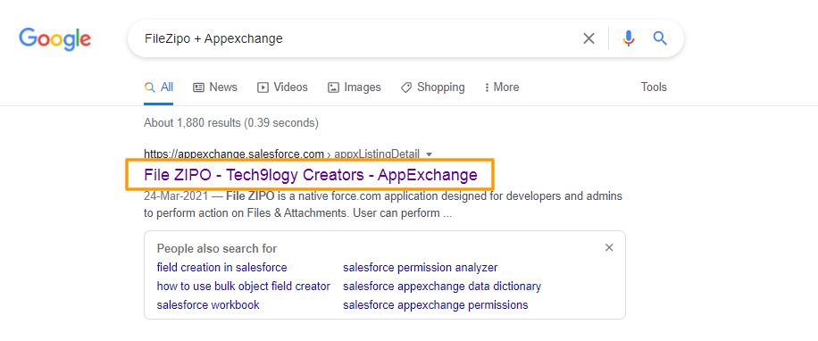 FileZipo + Appexchange