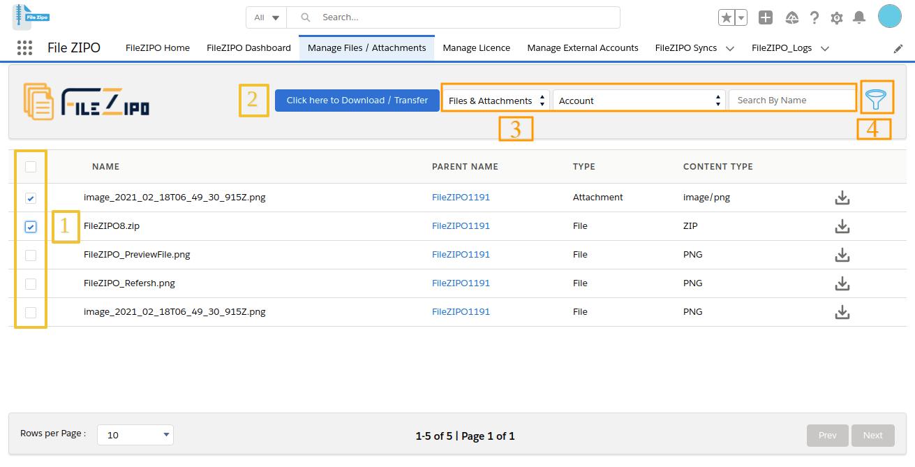 Select single or multiple Files